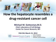 Other side of the coin - cancer chemotherapy resistance - AASLD