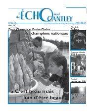 Août - Echo of Cantley / Écho de Cantley