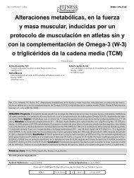 Alteraciones metabólicas, en la fuerza y masa muscular, inducidas ...