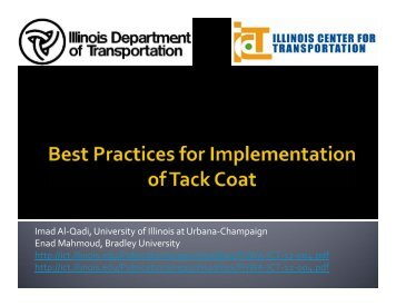 Best Practices for Implementation of Tack Coat
