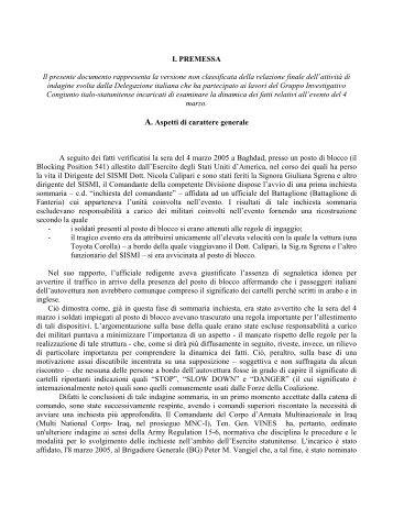 Il rapporto italiano - Corriere della Sera