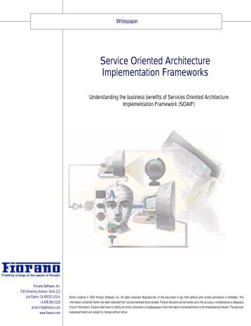 Service Oriented Architecture Implementation Frameworks