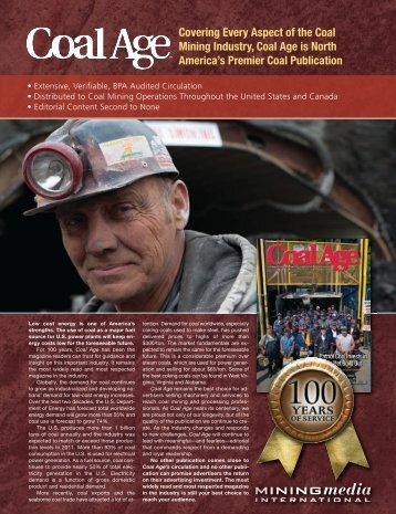 Covering Every Aspect of the Coal Mining Industry, Coal Age is ...