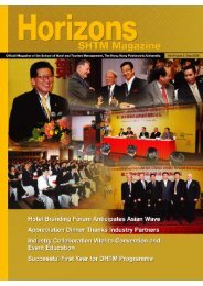 Vol 8 Issue 2, September 2008 - School of Hotel & Tourism ...