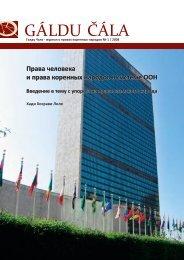 Права человека и права коренных народов в системе ООН ...