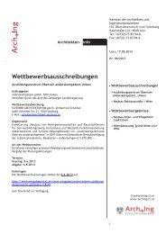 ArchInfo 6/2013 - Kammer der Architekten und Ingenieurkonsulenten