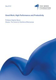 Good Work, High Performance and Productivity - Management and ...