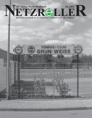 NETZROLLER TC Grün-Weiss Walldorf 02.2003