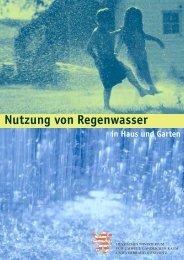 Nutzung von Regenwasser in Haus und Garten