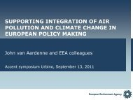 supporting integration of air pollution and climate change in ...