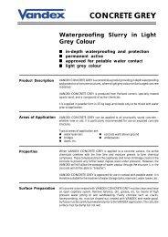 Vandex Concrete Grey (28k) - Safeguard Europe Ltd.
