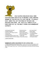 2010-2011 PTA Membership Form.pdf - Cowlishaw Elementary ...
