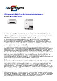 HP Photosmart C3180 All-in-One Drucker ... - Druckermagazin