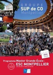Programme Master Grande École - ESC MONTPELLIER - L'Etudiant