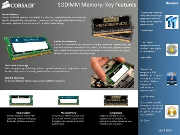 SODIMM Memory: Key Features - Corsair