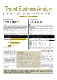 May 2001 - Travel Business Analyst