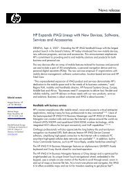 HP Expands iPAQ Lineup with New Devices ... - Hewlett Packard