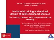 Multimodal pricing and optimal design of public transport services ...