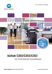 bizhub C203/C253/C353 - TE Postline