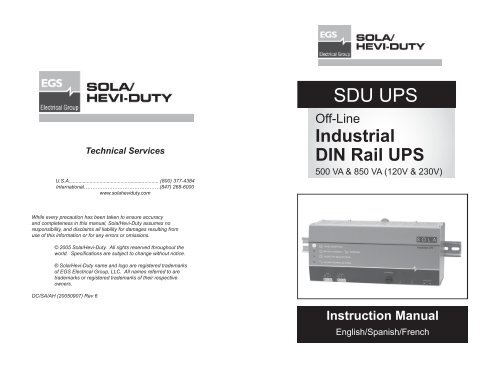 SDU UPS Manual rev 6 indd