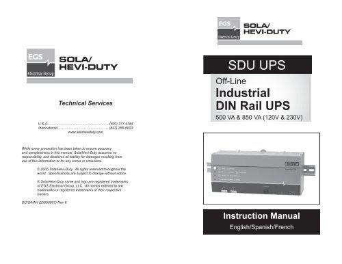 SDU UPS Manual rev 6 indd