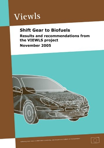 Shift Gear to Biofuels - Transport & Mobility Leuven