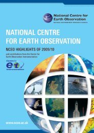 NATIONAL CENTRE FOR EARTH OBSERVATION - NCEO ...