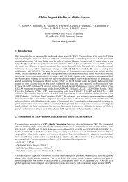 Global Impact Studies at Météo-France