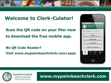 Welcome to Clerk-Culator! - Clerk & Comptroller, Palm Beach County