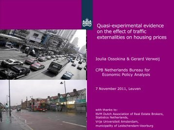 Quasi-experimental evidence on the effect of traffic externalities on ...