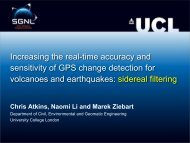 Increasing the real-time accuracy and sensitivity of GPS change ...