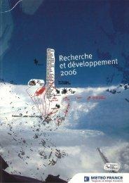 Rapport R&D 2006 - Centre National de Recherches Météorologiques