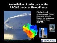 Assimilation of radar data in the AROME model atat Météo-France