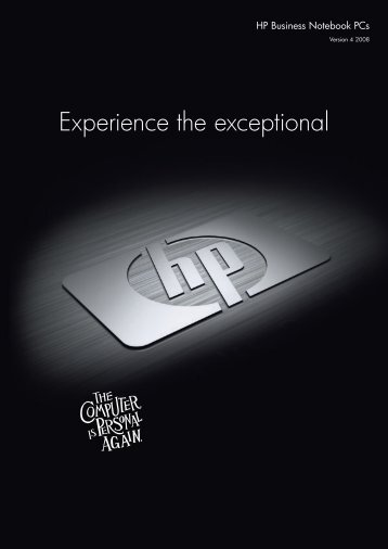 Experience the exceptional - Hewlett Packard