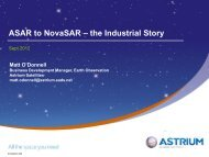 The ASAR, Sentinel 1 and NovaSAR industrial story - NCEO ...