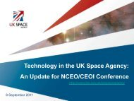 UK Space Agency Technologies - NCEO - National Centre for Earth ...