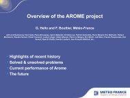 AROME status and plans - Météo France