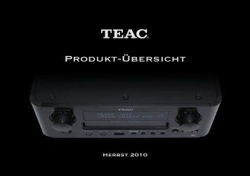 Produkt-Ãœbersicht - TEAC Europe GmbH