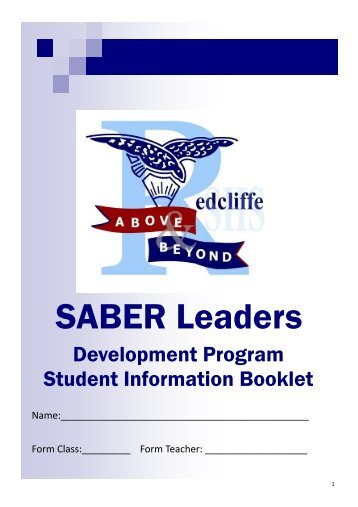 SABER-leaders-student-booklet - Redcliffe State High School