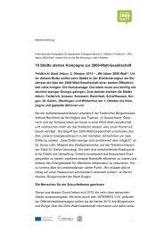 10 Städte starten Kampagne zur 2000-Watt-Gesellschaft - Stadt Arbon