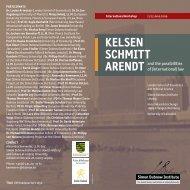 kelsen schmitt arendt - Simon-Dubnow-Institut