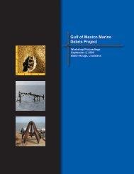 Workshop Proceedings - Gulf of Mexico Marine Debris Project - NOAA