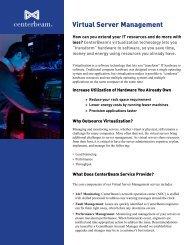 Virtual Server Management Brochure - CenterBeam