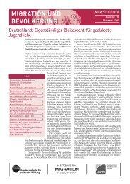 Ausgabe Dezember 2010 als pdf - Migration & Bevölkerung