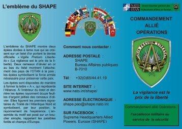 L'emblème du SHAPE - ACO - NATO