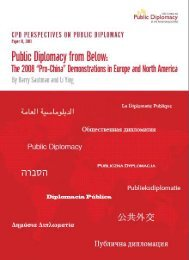 "public diplomacy from below: the 2008 ""pro-china"" - USC Center on ..."