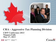Aggressive Tax Planning Issues for Financial Advisors - CIFPs