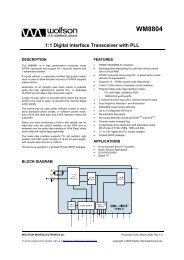 WM8804, Rev 4.5 - Wolfson Microelectronics plc