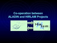 Co-operation between ALADIN and HIRLAM Projects - Météo France