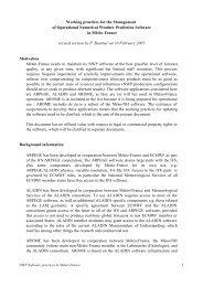 Proposal for NWP software practices - Météo France